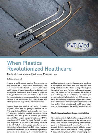 When Plastics Revolutionized Healthcare: Medical Devices in a Historical Perspective