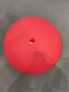 PVC balance ball seen at Medica 2016