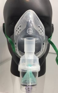 PVC oxygen mask seen at Medica 2016