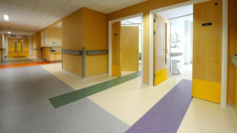 vinyl flooring hospitals