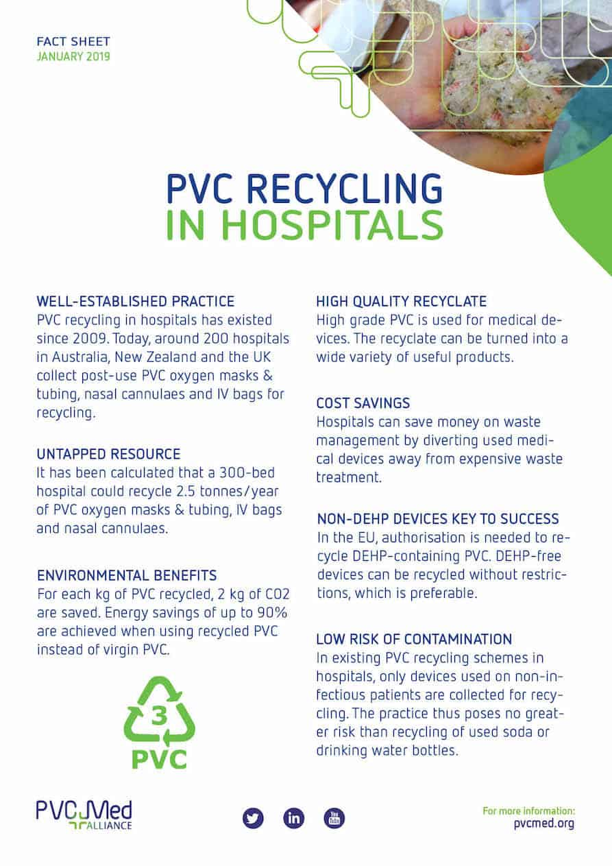 PVC plastic hospital recycling factsheet-web