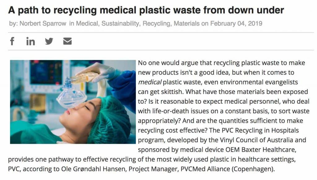 plastics recycling in hospitals plasticstoday