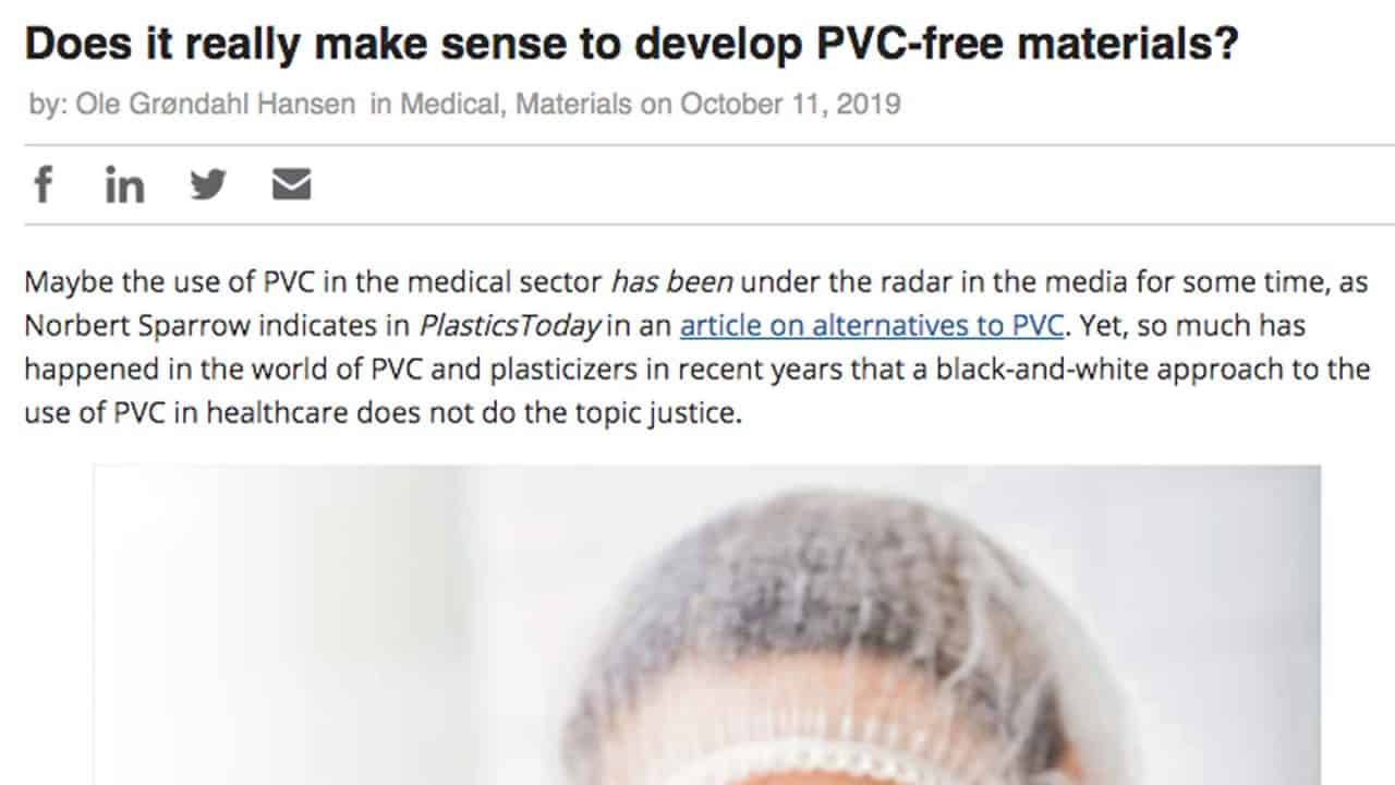 does it really make sens to develop pvc-free materials?