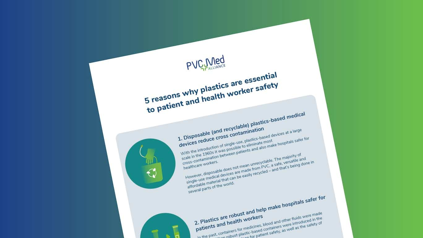 Infographic: 5 reasons why plastics are essential to patient and health worker safety